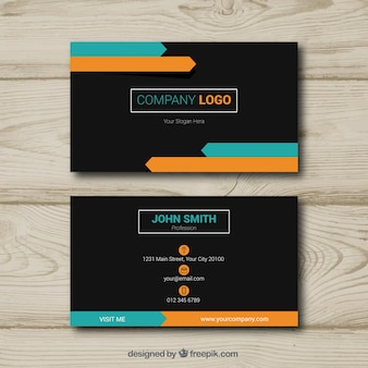 Elegant visitekaartje met vlak ontwerp