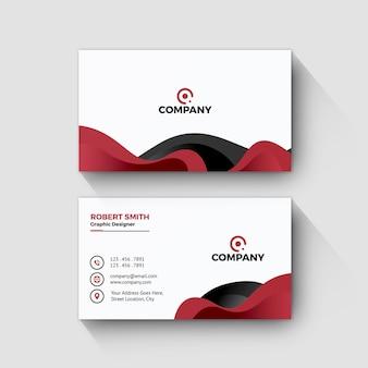 Elegant visitekaartje zwart en rood ontwerp