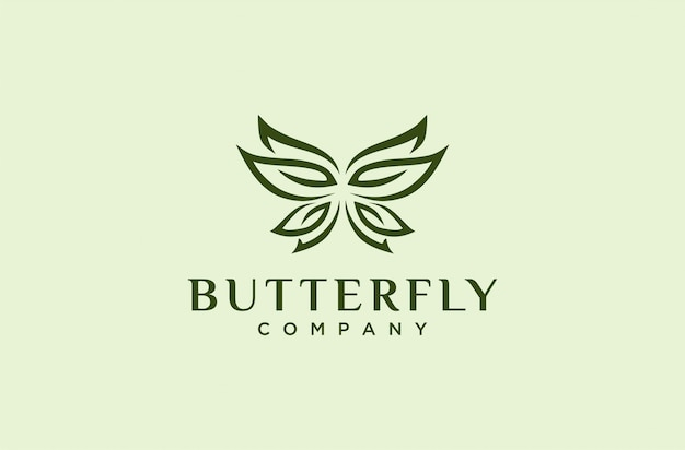 Elegant vlinderlogo