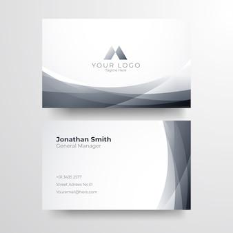 Elegant wit visitekaartje. elegant minimalistisch gouden visitekaartje.