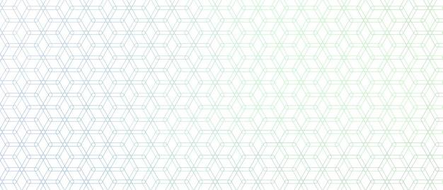 Elegant zeshoekig lijnpatroon
