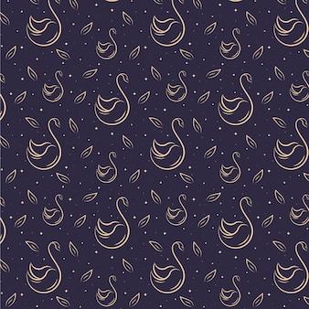 Elegant zwaanpatroon