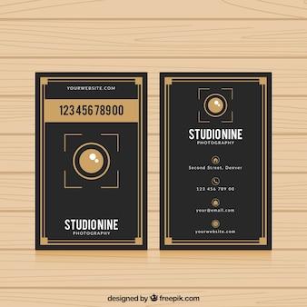 Elegant zwart adreskaartje voor fotografie