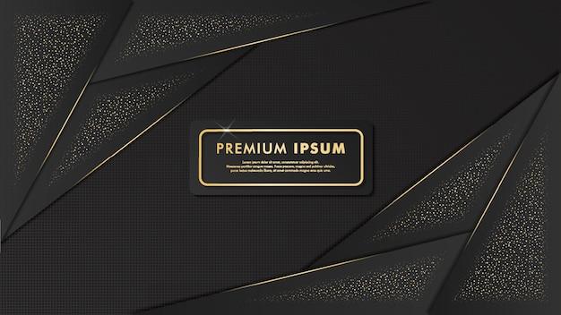 Elegant zwart en gouden achtergrondmalplaatjeontwerp