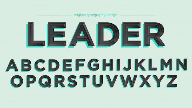 Elegant zwart schuine typografieontwerp