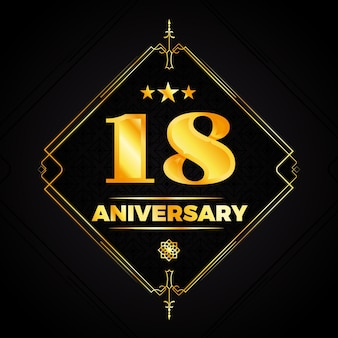 Elegante 18e verjaardag logo-stijl