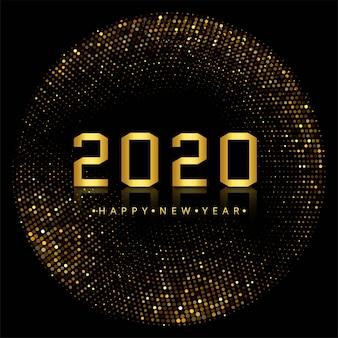 Elegante 2020 nieuwjaarsvakantie op glitters Gratis Vector