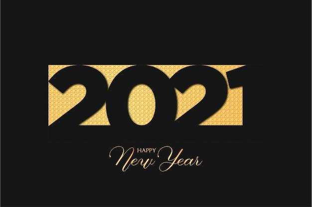 Elegante 2021 gelukkig nieuwjaar achtergrond met gouden textuur