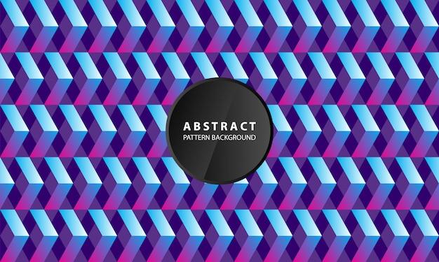 Elegante 3d geometrische patroon blauwe achtergrond