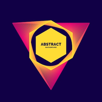 Elegante abstracte poster met kleurrijke lijnen op een donkere achtergrond. vector illustratie