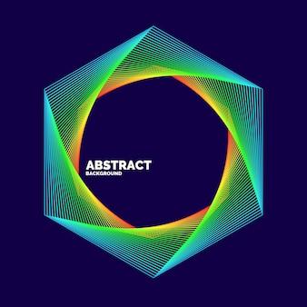 Elegante abstracte poster met kleurrijke lijnen op een donkere achtergrond