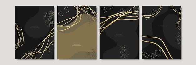 Elegante abstracte trendy universele achtergrondsjablonen