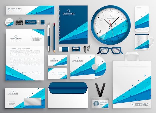Elegante abstracte zakelijke briefpapier collectie