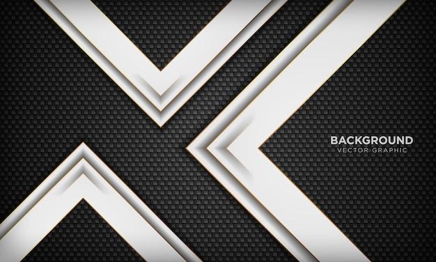 Elegante abstracte zwart-witte achtergrond met lijn gouden elementen realistische luxe 3d-concept