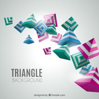 Elegante achtergrond met 3d-driehoeken