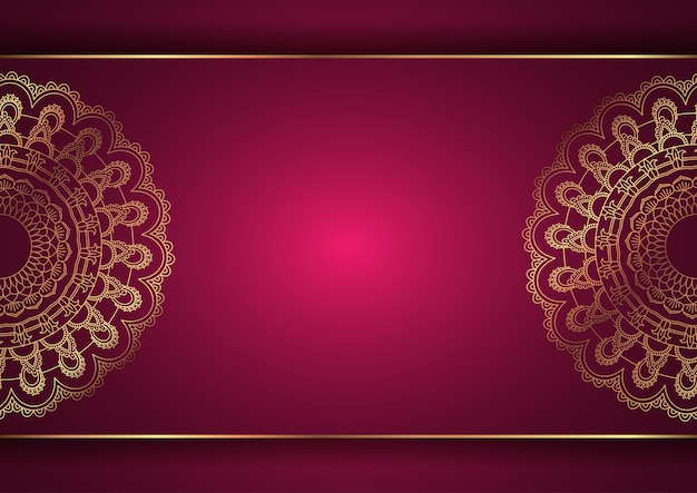 Elegante achtergrond met een decoratief mandala-ontwerp