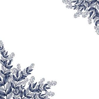 Elegante achtergrond met grijze bloemenwaterverf