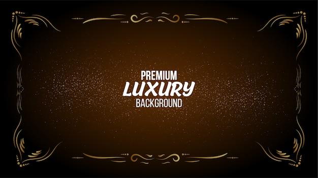 Elegante achtergrond met luxe frame-ontwerp