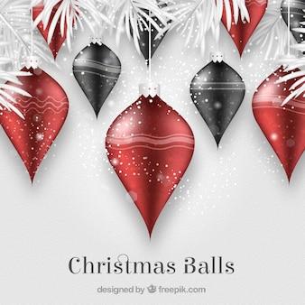 Elegante achtergrond van kerstballen