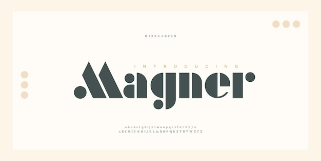 Elegante alfabet letters lettertype en nummer. typografie luxe moderne serif-lettertypen regelmatig decoratief vintage concept. illustratie