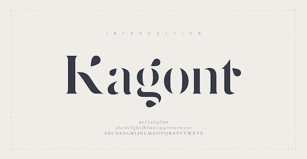 Elegante alfabet letters lettertype en nummer.