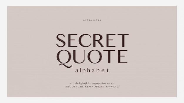 Elegante alfabet letters lettertypeset. klassieke typografie lettertypen klassieke stijl, normale hoofdletters, kleine letters en cijfers.