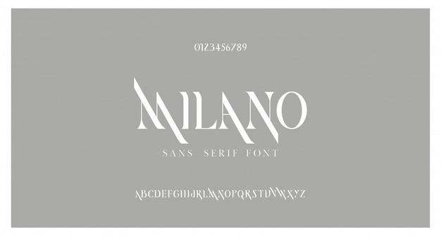 Elegante alfabetbrieven lettertype. klassieke letters