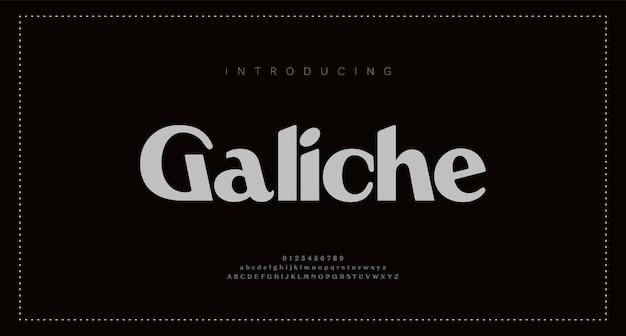 Elegante alfabetletters. klassieke belettering minimal fashion designs. typografie moderne schreefloze lettertypen en cijfers.