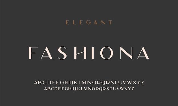 Elegante alfabetletters zonder lettertype. klassieke typografische lettertypen gewone hoofdletters, kleine letters.