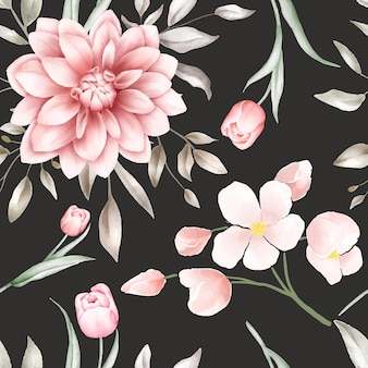 Elegante aquarel naadloze bloemmotief