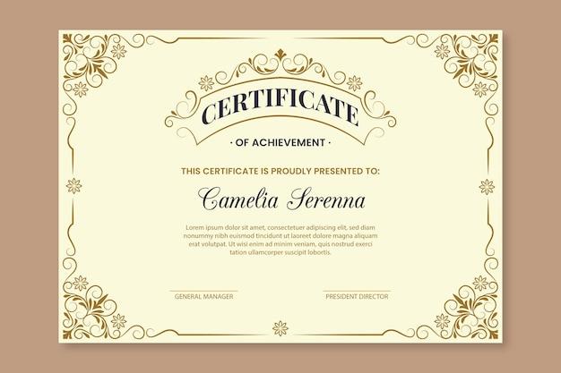 Elegante award certificaatsjabloon