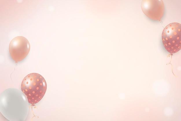 Elegante ballonachtergrond
