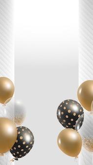 Elegante ballonnen achtergrond