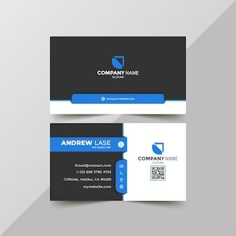 Elegante blauwe bedrijfskaart