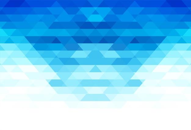 Elegante blauwe geometrische vormenachtergrond