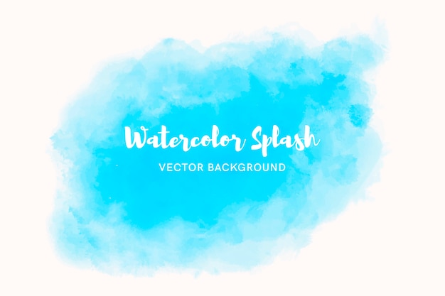 Elegante blauwe waterverfachtergrond