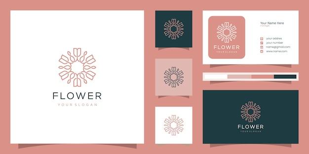 Elegante bloem roos luxe schoonheidssalon, mode, huidverzorging, cosmetica, yoga en spa-producten