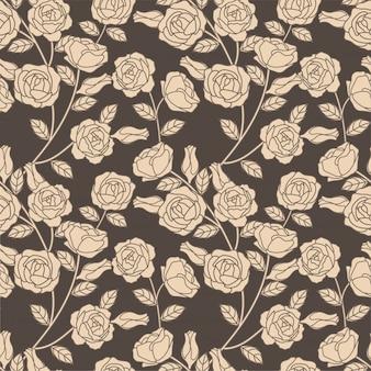 Elegante bloemen botanische naadloze patroon roos