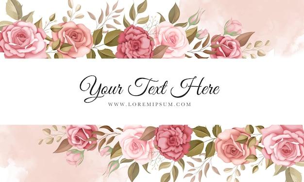 Elegante bloemenachtergrond met romantische rozen