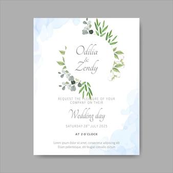 Elegante bloemenhuwelijksuitnodigingskaarten