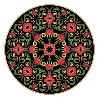 Elegante bloemenmandala. bloemen gesign-element.