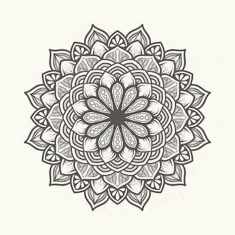 Elegante bloemenmandala