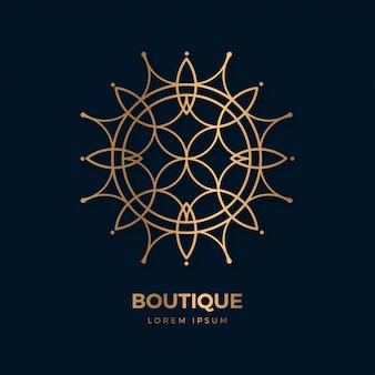Elegante boutique bloem embleem sjabloon