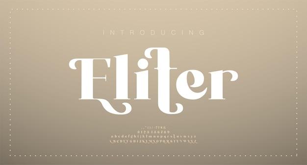 Elegante bruiloft alfabet letter lettertype. typografie luxe klassiek serif-lettertypen decoratief vintage retro