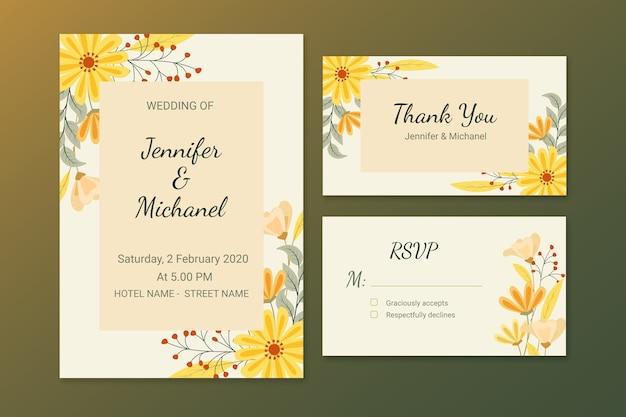 Elegante bruiloft briefpapier thema