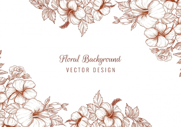 Elegante bruiloft decoratieve bloemen achtergrond
