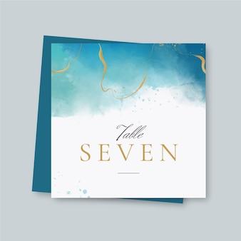Elegante bruiloft folder sjabloon