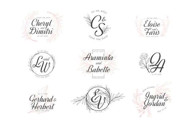 Elegante bruiloft monogram collectie