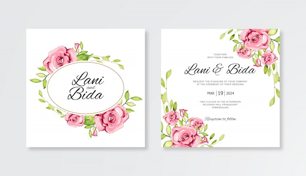 Elegante bruiloft uitnodiging kaartenset