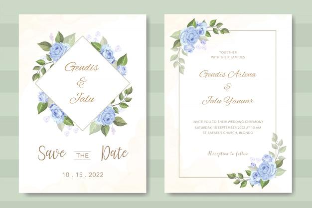 Elegante bruiloft uitnodiging met prachtige bloemen